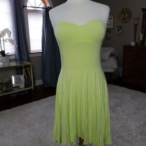 Victoria's Secret strapless ,pushup dress in lime
